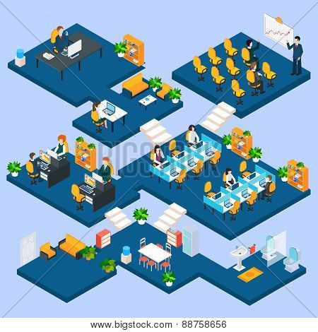Multistory Office Isometric