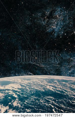 Earth And Galaxy. Night Sky Space.some Elements Of This Image Are Furnished By Nasa.-Lg Fridge Magnet Skin (size 36x65)