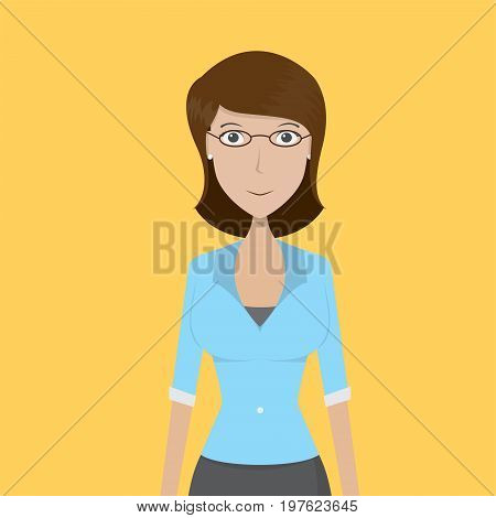 Teacher Character Female | set of vector character illustration use for human, profession, business, marketing and much more.The set can be used for several purposes like: websites, print templates, presentation templates, and promotional materials.