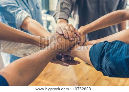 business people join hands together for teamwork together concept teamwork concept
