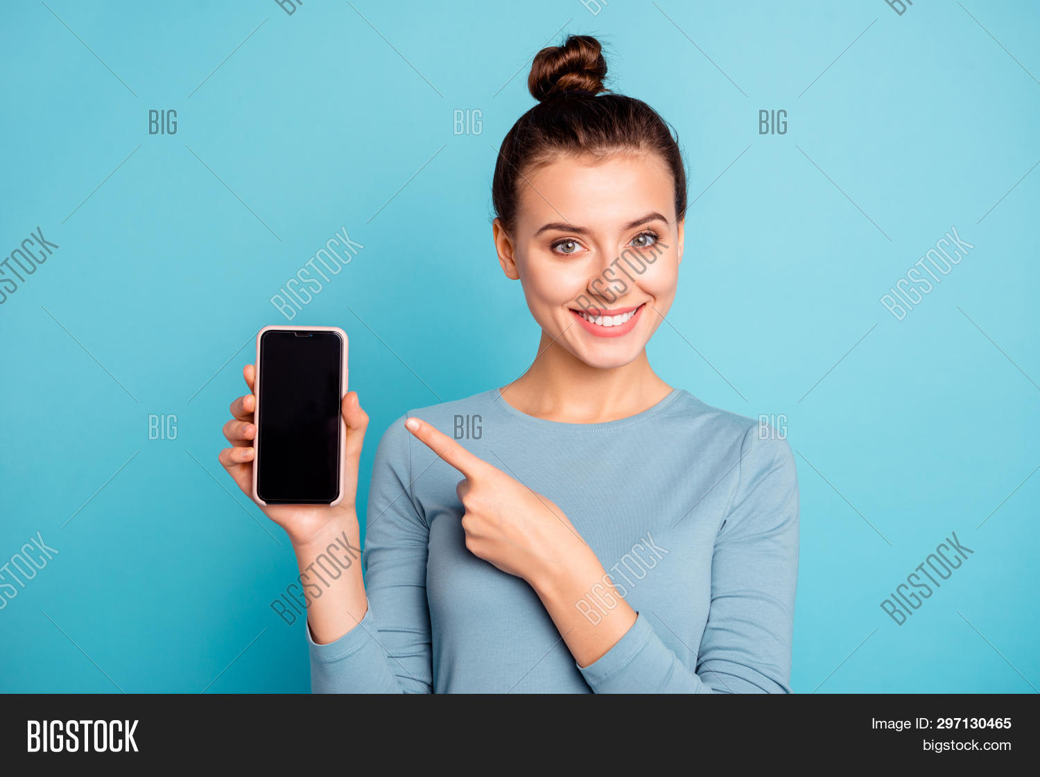 Close-up Portrait Of Her She Nice-looking Attractive Sweet Lovely Cheerful Teenage Girl Holding In H