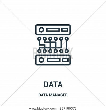 data icon isolated on white background from data manager collection. data icon trendy and modern data symbol for logo, web, app, UI. data icon simple sign. data icon flat vector illustration for graphic and web design. stock photo
