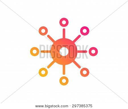 Multichannel icon. Multitasking sign. Omnichannel symbol. Classic flat style. Gradient multichannel icon. Vector stock photo