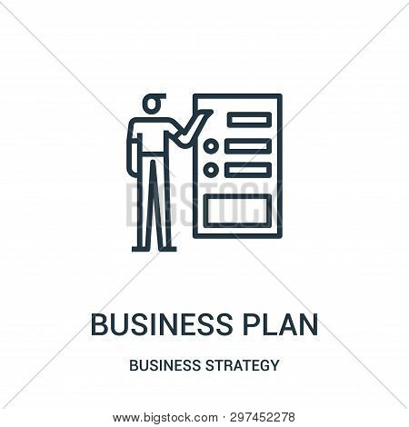 business plan icon isolated on white background from business strategy collection. business plan icon trendy and modern business plan symbol for logo, web, app, UI. business plan icon simple sign. business plan icon flat vector illustration for graphic an stock photo