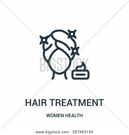 hair treatment icon isolated on white background from women health collection. hair treatment icon trendy and modern hair treatment symbol for logo, web, app, UI. hair treatment icon simple sign. hair treatment icon flat vector illustration for graphic an stock photo