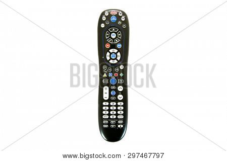 Remote Control. Generic Remote Control.  Universal remote control. isolated on white. room for text.  stock photo