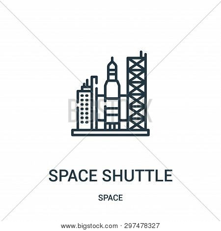 space shuttle icon isolated on white background from space collection. space shuttle icon trendy and modern space shuttle symbol for logo, web, app, UI. space shuttle icon simple sign. space shuttle icon flat vector illustration for graphic and web design stock photo