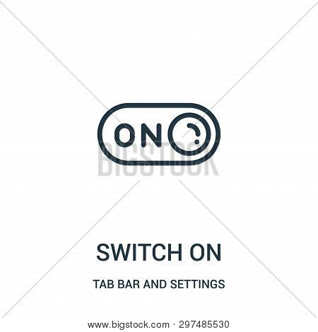 switch on icon isolated on white background from tab bar and settings collection. switch on icon trendy and modern switch on symbol for logo, web, app, UI. switch on icon simple sign. switch on icon flat vector illustration for graphic and web design. stock photo