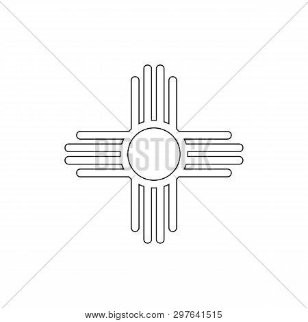 religion symbol, native American sun outline icon. Element of religion symbol illustration. Signs and symbols icon can be used for web, logo, mobile app, UI, UX stock photo