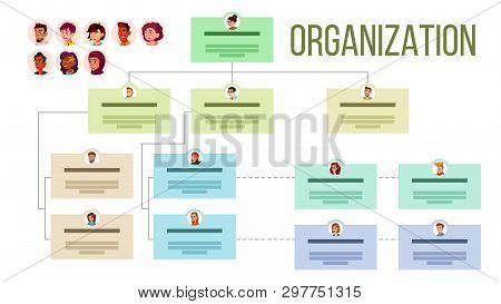 Organizational Structure, Company Organogram, Flowchart Layout. Organizational Tree, Professional Hi