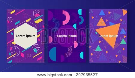 Abstract shapes compositions. for cover design, ad, posters, books, greeting cards and more .Vector illustration. stock photo