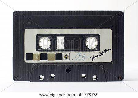 a vintage retro old audio cassette tape stock photo