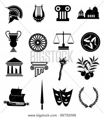 Stock Photo Of Ancient Rome Symbols Set Royalty Free