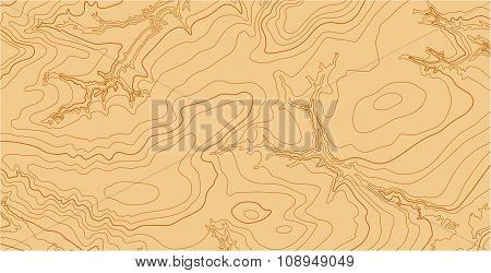 Abstract vector topographic map with isolines in brown colors stock photo