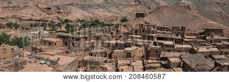 Tuyoq or Tuyugou or Tuyuk is an ancient oasis-village in the Taklamakan desert, 70 km east of Turpan in a lush valley cutting into the Flaming Mountains, Xinjiang Uighur Autonomous Region of China. stock photo