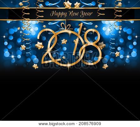 2018 Happy New Year Background for your Seasonal Flyers and Greetings Card or Christmas themed invit