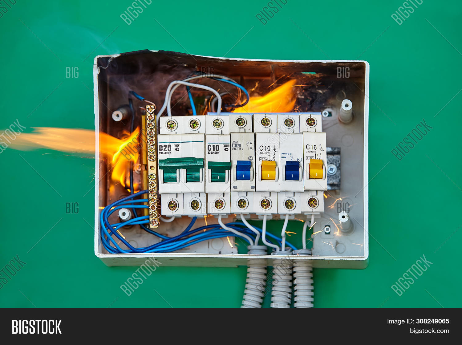 bad,box,breaker,broken,burn,burned,burning,burnout,burnt,cable,circuit,closeup,combustion,damaged,danger,dangerous,defective,electric,electrical,electricity,equipment,failure,faulty,fire,flame,fuse,hazard,home,house,nobody,overloaded,power,problem,process,protect,risk,security,smoke,surge,switchboard,system,voltage,wall,wire,wiring,wrong