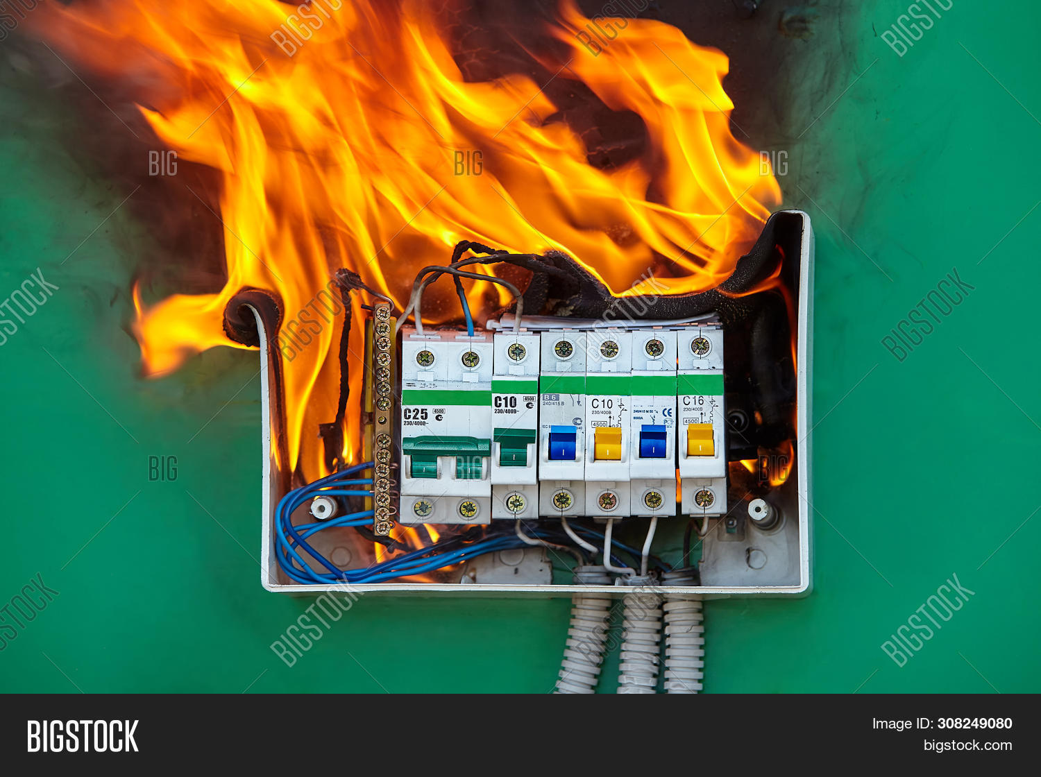 bad,box,breaker,broken,burn,burned,burning,burnout,burnt,cable,circuit,closeup,combustion,damaged,danger,dangerous,defective,electric,electrical,electricity,equipment,failure,faulty,fire,flame,fuse,hazard,home,house,nobody,overloaded,power,prevention,problem,process,risk,safety,security,smoke,surge,switchboard,system,voltage,wall,wire,wiring,wrong