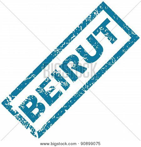 Vector blue rubber stamp with city name Beirut, isolated on white stock photo