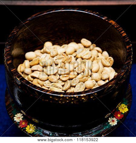 Coffee beans from the civet for background. stock photo