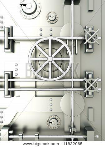 Vaulted Door-Lg Fridge Magnet Skin (size 36x65)