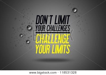 Don\'t Limit Your Challenges - Challenge Your Limits - Workout Motivation - Fitness Center - Motivati