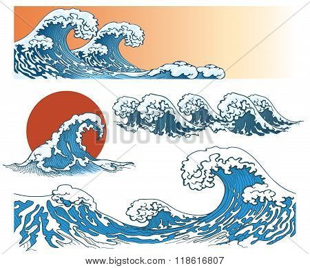 Waves in japanese style
