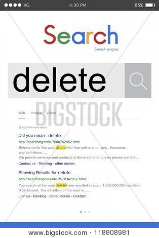 Delete Cancel Cut Out Edit Remove Digital Concept stock photo
