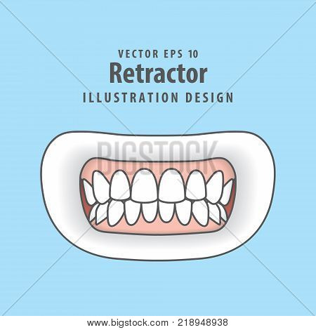 Step of tooth cavity filling illustration vector on blue background. Dental concept. stock photo