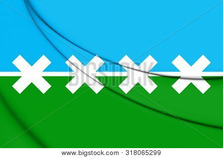 3D Flag of Cedar Park (Texas), USA. 3D Illustration. stock photo
