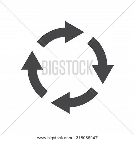 Rotating arrows icon isolated on white background. Rotating arrows icon in trendy design style for web site and mobile app. Rotating arrows vector icon modern and simple symbol. Rotating arrows icon vector illustration, EPS10. stock photo