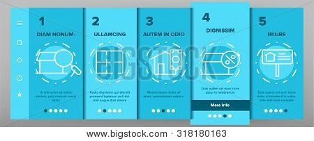 Color Buildings For Sale Vector Onboarding Mobile App Page Screen. Buy property, Building Sale Outline Cliparts. Real Estate, Residential Selling. Apartments And Accommodation Illustration stock photo