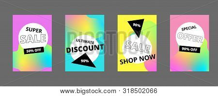 Modern promotion square web banner for social media mobile apps. Elegant sale and discount promo backgrounds with abstract pattern. Email ad newsletter layouts. stock photo