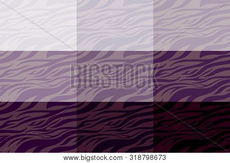 violet Zebra print. Stripes, animal skin, tiger stripes, abstract pattern, line background. Black and white vector monochrome seamles texture. eps 10 illustration art stock photo