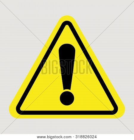 Attention sign - caution alert symbol - exclamation mark illustration, attention icon stock photo