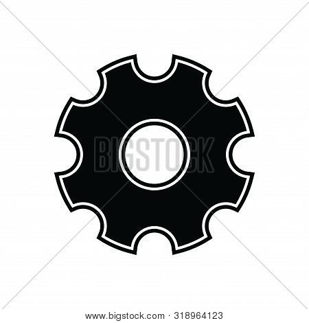 Gear Icon Isolated Black On White Background, Gear Icon Vector Flat Modern, Gear Icon, Gear Icon Eps10, Gear Icon Vector, Gear Icon Eps, Gear Icon Jpg, Gear Icon Picture, Setting Icon App, Setting Icon Web stock photo
