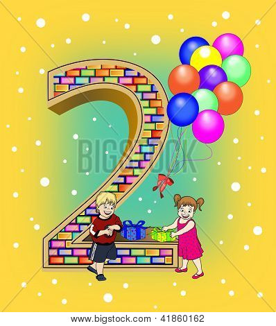 Stock Photo Of Birthday Card For A Two Year Old Royalty Free Images