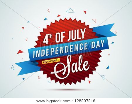 4th of July Sale, Sale Paper Banner, Sale Poster, Sale Flyer, Sale Background, Creative illustration
