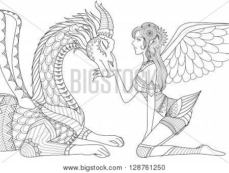 Guardian angel free coloring pages for Anime angel coloring pages