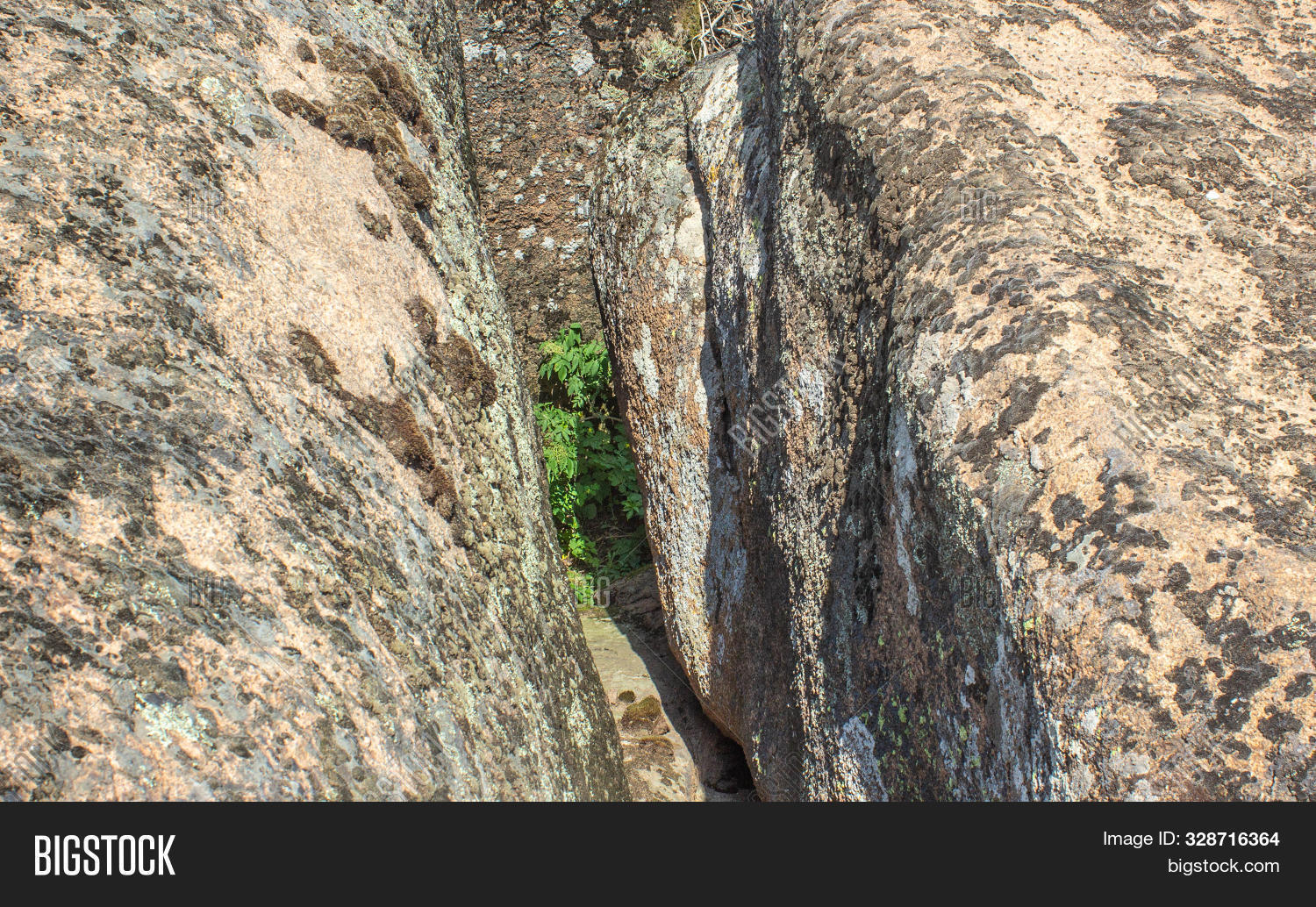 Aktove Canyon Consists Of Ancient Weathered Granite, Cut By Mertvovid River On The Depth Of More Tha