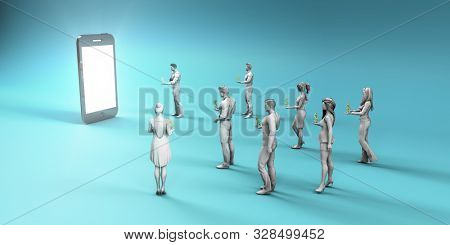 Online Payment Through Mobile App Portal as Industry Concept 3D Render stock photo