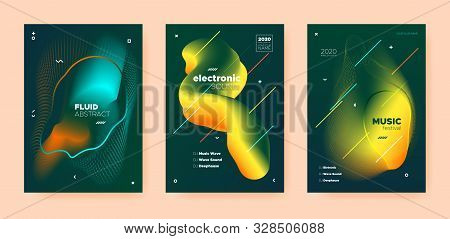 House Music Poster. Wave Gradient Blend. Disco Club Festival. Dj Party. Yellow Techno Music Poster. Orange Abstract Gradient Blend. Disco Club Flyer. Dj Sound. Dance Music Poster. stock photo