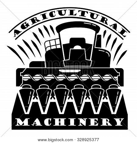 Agricultural machinery logo. Simple illustration of agricultural machinery vector logo for web design isolated on white background stock photo