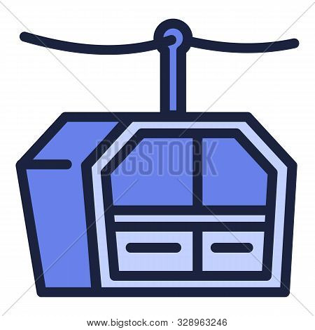 Cable cabin icon. Outline cable cabin vector icon for web design isolated on white background stock photo
