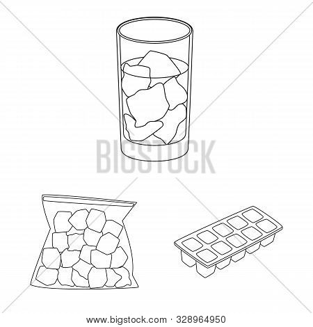 Isolated object of clean and wet sign. Collection of clean and purity stock symbol for web. stock photo