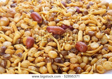 Mixture- An all time popular Asian snack stock photo