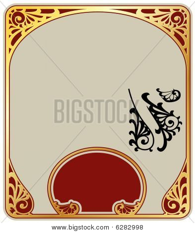 Vector backgrounds on the basis pattern in style art-nouveau stock photo