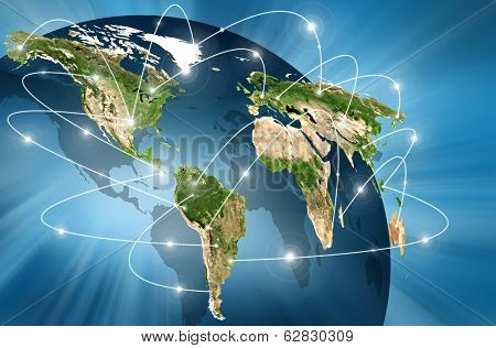 world Map. Best Concept of global business from concepts series.(Elements of this image furnished by