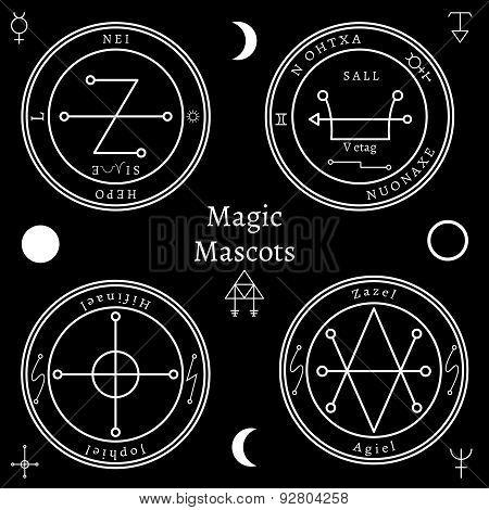 Astrological talismans set