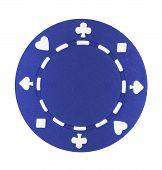 Blue Poker Chip